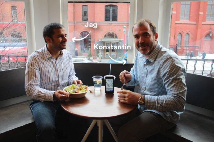 COURTESY BLUECART BlueCart co-founders, Jagmohan Bansal (GRD '11) and Konstantin Zvereff (GRD '11) launched an app that makes restaurant-vendor interactions more efficient in July 2014.