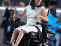 AP IMAGES/ANASTASIA SOMOZA Anastasia Somoza, a disability rights activist, is working on Hillary Clinton's presidential campaign and spoke at the Democratic National Convention in July.