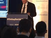 """MARINA PITOFSKY/THE HOYA Provost Robert Groves spoke at the Beeck Center's """"Data for Social Good"""" series Wednesday."""