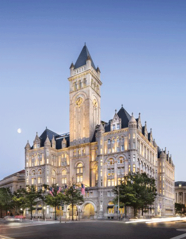 TRUMPHOTELS.COM The opening of Trump Hotel in Washington, D.C., has sparked protests over Donald Trump's statements and complaints from his hotels' staff.