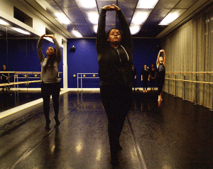"""ANNA KOVACEVICH/THE HOYA The title of Black Movement Dance Theater's spring show """"Defiance"""" was chosen to reflect the current state of the black community in the United States, and to emphasize the importance of empowerment. Student directors hope the show will facilitate dialogue."""
