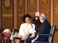 SPENCER COOK FOR THE HOYA Writer and activist Chimamanda Ngozi Adichie argued that religion and feminism are not mutually exclusive in Gaston Hall yesterday.