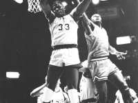 FILE PHOTO: CHRISTIN DRISCOLL Patrick Ewing (COL '85), right, led Georgetown to the school's first and only national championship in 1984. He will replace John Thompson III as the men's basketball head coach.