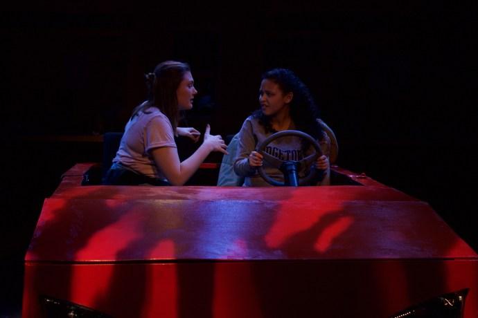 Carmen Livesay (COL '17) as protagonist Lexi and Katherine Pietro (COL '17) as her best friend Jessie ANNA KOVACEVICH/THE HOYA
