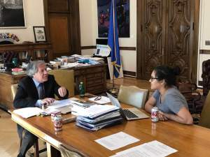 JUAN MANUEL HERRERA FOR THE HOYA Secretary General of the Organization of American States Luis Almagro discussed Venezuela's constitutional crisis.