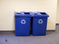 AMBER GILLETTE FOR THE HOYA Residents of Washington, D.C. are now instructed to put clean pizza boxes and plastic cups in the recycling bin, not the trash.