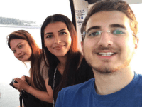COURTESY JAMAL KHATIB Normeanne Joyce Sison, left, Maryam al-Wehaibi and Jamal Khatib are three of the 10 students of the School of Foreign Service in Qatar currently studying for a semester at Georgetown's main campus as foreign exchange students.