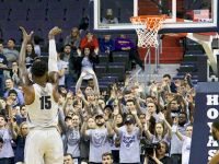 AISHA MALHAS FOR THE HOYA Junior center Jessie Govan will be critical to Georgetown's success against Villanova on both ends of the court as the Hoyas try and stop National Player of the Year candidate, junior point guard Jalen Brunson.