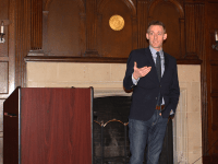 HANNAH LEVINE FOR THE HOYA Democratic politician Jason Kander ( ), founder of the voting rights group Let America Vote, was awarded Alumnus of the Year by the Georgetown University College Democrats.