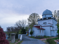 SHEEL PATEL/THE HOYA The Georgetown University Francis J. Heyden Observatory is currently in need of renovations and repairs, but it has a rich legacy of astronomy education dating back to 1841.