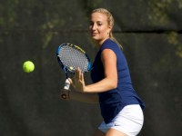 GUHOYAS Junior Sydney Goodson won three matches in the Big East Tournament.