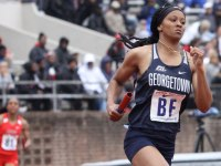 GUHOYAS Graduate student sprinter Taylor Williams won both the 100 meter dash and the 200 meter dash at the Big East Championships.
