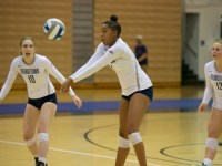 After dropping their first two sets against Idaho State, the Georgetown women's volleyball team rallied, winning the final three sets and the match.