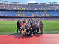 SCHOOL OF CONTINUING STUDIES The School of Continuing Studies established a partnership with FC Barcelona last year. This July, participants in the program met with team executives.