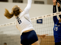 AARON WEINMANN FOR THE HOYA Senior outside hitter Olivia King, whose 79 kills on the season place her fourth on the team, has bolstered Georgetown's offense this year.