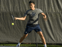 Senior Mike Chen, who led the team with 15 doubles wins last season, followed his doubles win versus Yale with a sweep in the A flight at the Navy Invitational. GU HOYAS