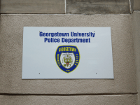 ASHLEY CHEN/THE HOYA Students have expressed concerns over the Georgetown University Police Department's lack of transparency on the contents of the standard sexual assault response training given to officers.