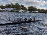 Led by coxswain Ryan Zuccala, two men's boats finished in the top 10 of the lightweight 4+ race. GU HOYAS