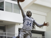 Graduate student guard Dorothy Adomako is averaging 11.0 points and 6.3 rebounds per game this season, which ranks third in each category for Georgetown. Kirk Zieser/The Hoya