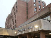 JULIA ALVEY/THE HOYA | Neither the university nor the District of Columbia Water and Sewer Authority is claiming responsibility for an overnight water outage that affected Darnall Hall, Arrupe Hall and Henle Village on Friday.