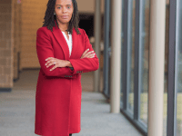 @APLERHOPLES/TWITTER | Alicia Plerhoples, Georgetown University Law Center professor, is highlighting economic hurdles faced by disadvantaged communities in her campaign for chairman of the Fairfax County School Board.