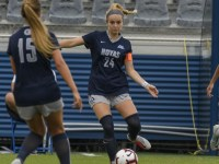 GUHOYAS | Leah McCullough (COL '18, GRD '20) led the women's varsity soccer team as captain during a historic run to the national College Cup semifinals.