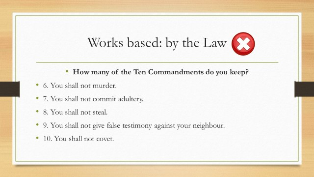 How many of the Ten Commandments do you keep