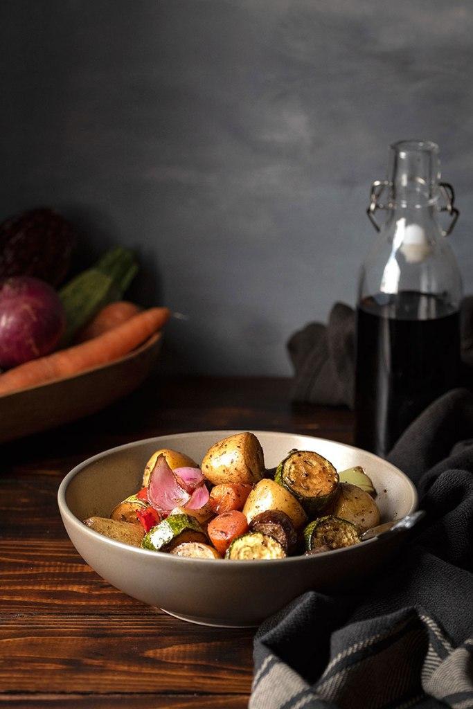 ψητά λαχανικά φούρνου με μπαλσάμικο και μέλι 2