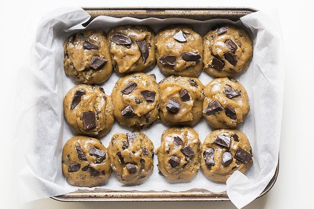 μαλακά μπισκότα σοκολάτας με ταχίνι και ελαιόλαδο 2