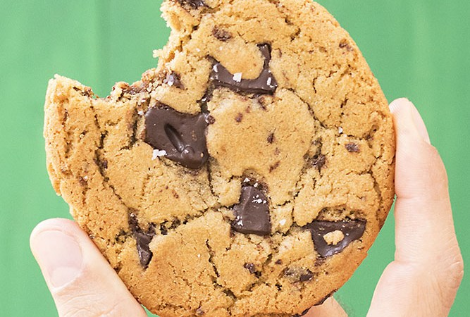 μαλακά μπισκότα σοκολάτας με ταχίνι και ελαιόλαδο 0