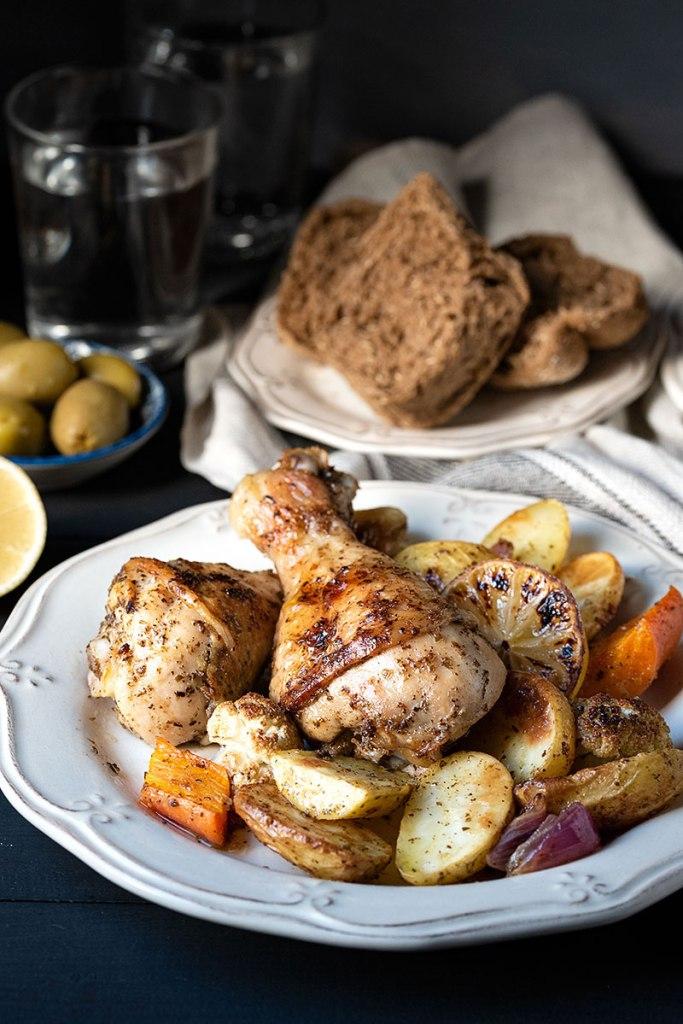 Κοτόπουλο στο φούρνο με πατάτες 3
