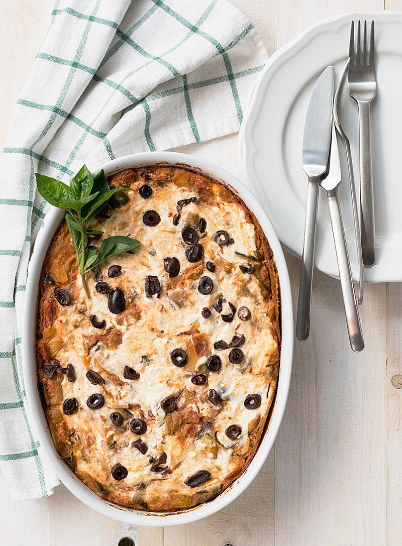 vegetarian fake lasagna casserole