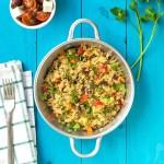Mediterranean vegetable quinotto featured