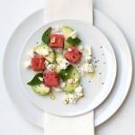 Mediterranean watermelon & feta cheese salad 4