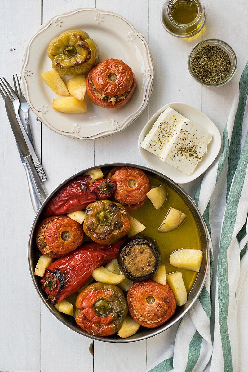 Meatless Greek Stuffed Vegetables (Gemista) 3