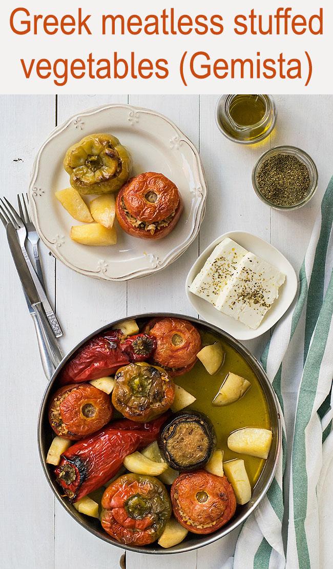 Meatless Greek Stuffed Vegetables (Gemista) 6