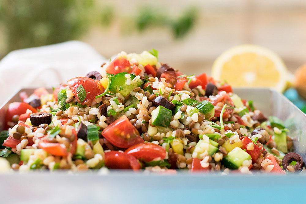 Mediterranean bulgur & lentil lunch salad 3