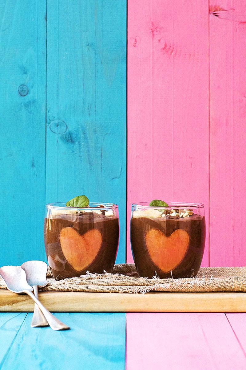 Almond milk & chocolate vegan mousse 2 ways 1