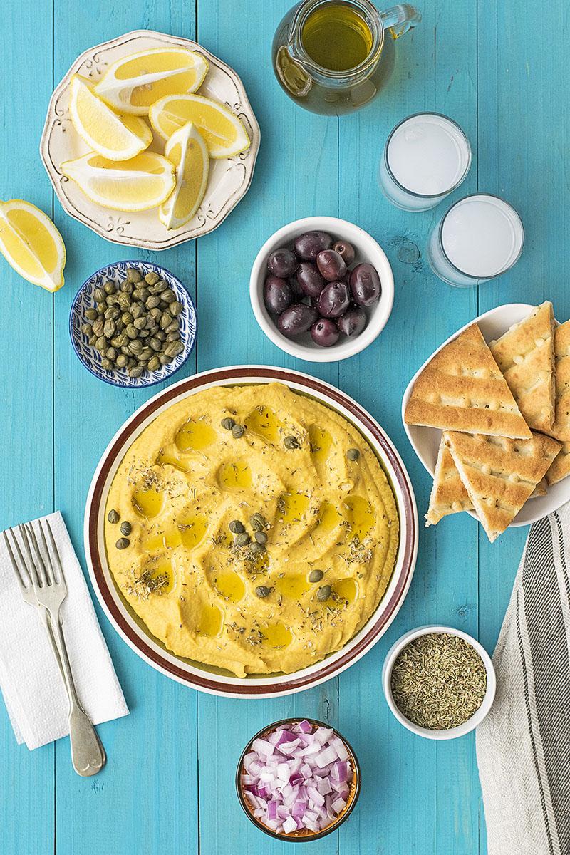 Yellow split pea & vegetable puree (Greek Fava)
