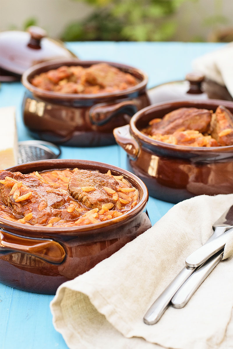 Greek beef stew with orzo pasta (Youvetsi) 4