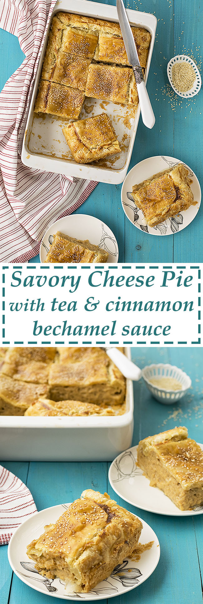 Four cheese savory pie with black tea scented béchamel sauce 6