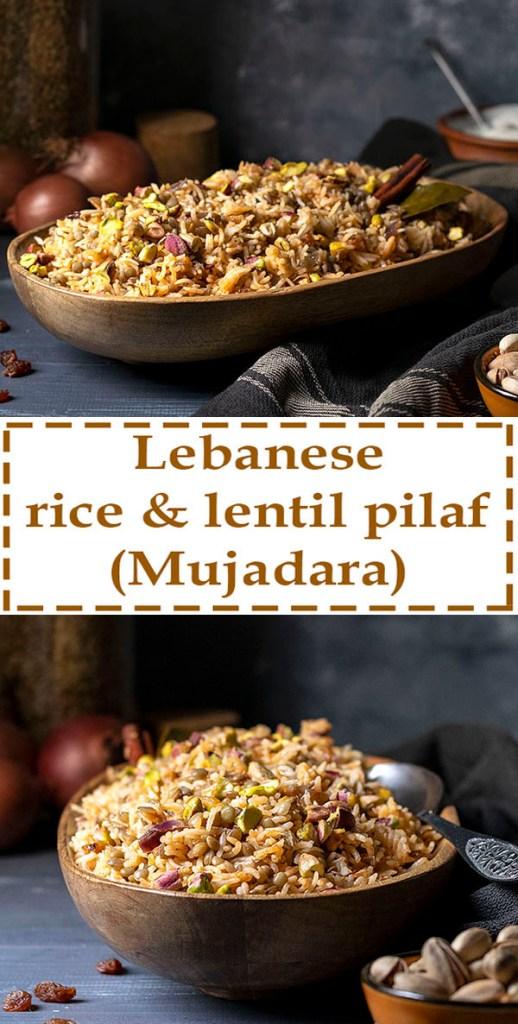 Lebanese Rice and Lentil Pilaf (Mujadara) - Vegan 5