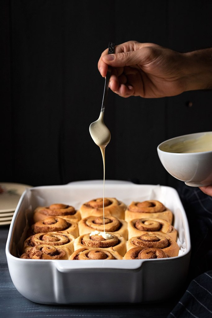 homemade cinnamon rolls recipe with the best icing 6