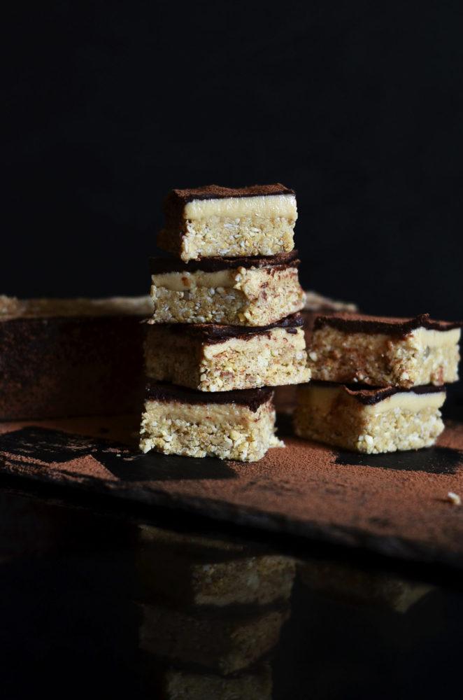 Salted Tahini Caramel Slice