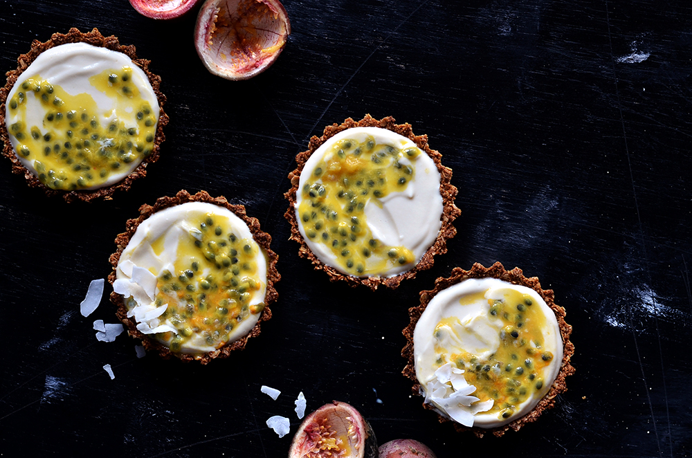 Passion Fruit Cream Tartlets