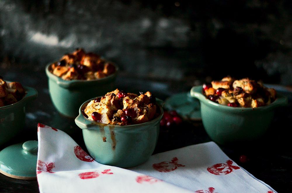 Cranberry Stuffing Festive Pot Pies