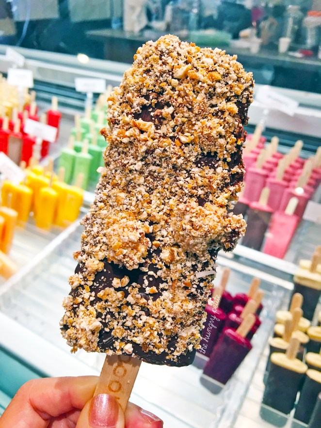 Pop from Popbar for second dessert. The lady behind the counter gave 0 fux making the pop and whether it was IG worthy or not.
