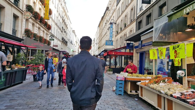 Rue Cler, the most famous market street in Paris and not far from the Eiffel Tower