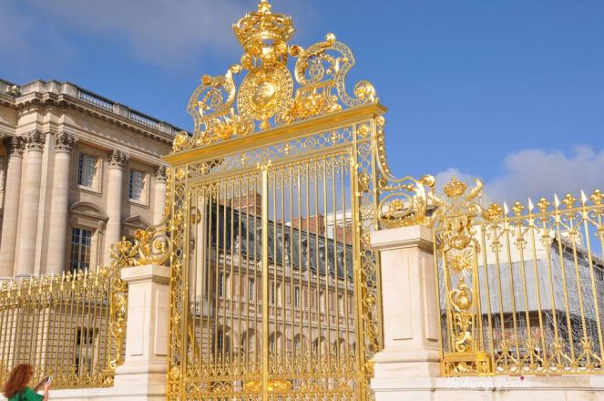 The golden gate to the Palace, replaced in 2008 more than 200 years after being torn down during the French Revolution