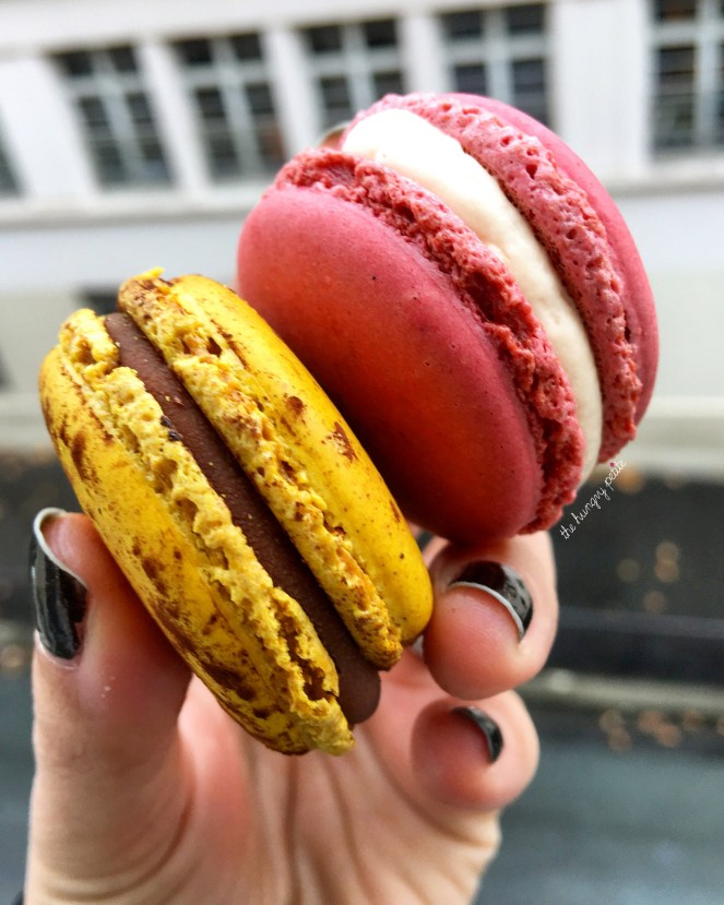 Mogador (milk chocolate and passion fruit) and Rose